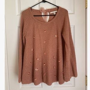 LC blush babydoll sweater